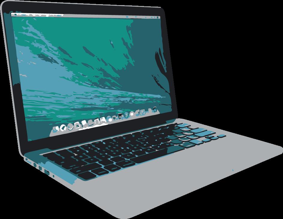 Mac Book Pro empleado para el diseño web